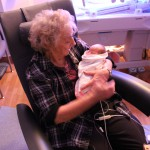 Grandma gets to hold Darcy