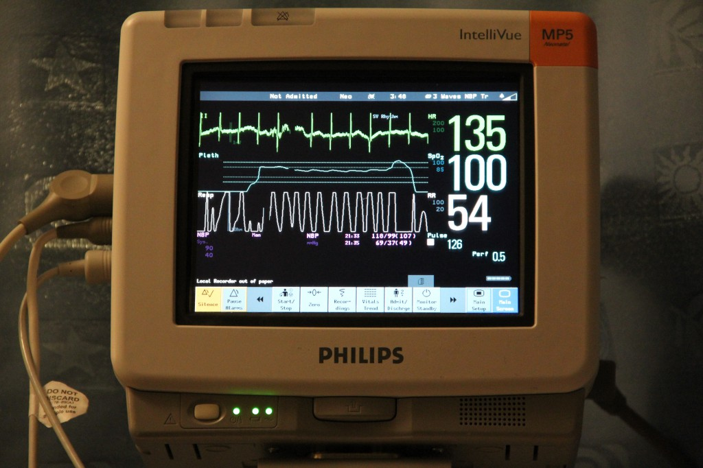 All vitals are constantly monitored.